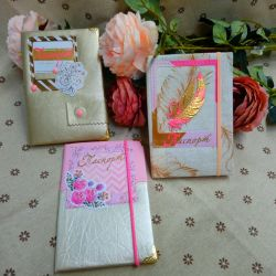 Sale. Cover for Passport handmade