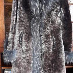 γυναικείο γούνινο παλτό περικόπτονται αμοιβαία