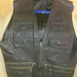 Nat Leather. Sleeveless shirt. Husband.