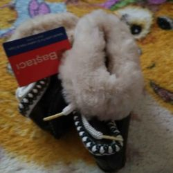 Booties fur sheepskin
