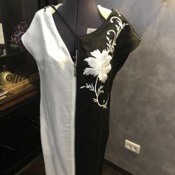 Dress 46-48r, black and white, Len, Italy, new