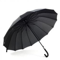 Зонт-трость 16 спицы полуавтомат (купол 120см)