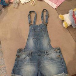 Jeans salopete (pantaloni scurți) Terranova