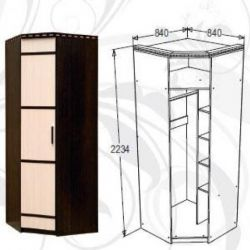Corner wardrobe 84 * 84 * 223