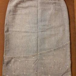 Джинсовая юбка р 46