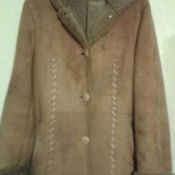 Sheepskin coat natural (very light and warm)