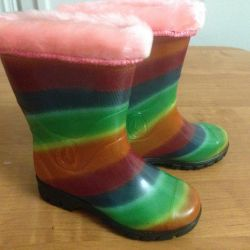 New rubber boots.