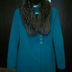 Зимове пальто з натур. хутром ідеальноесостояніе