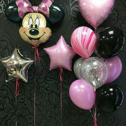 Photo zone helium balloons
