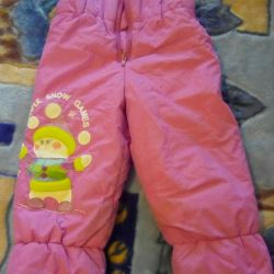 Pants warm for autumn-spring