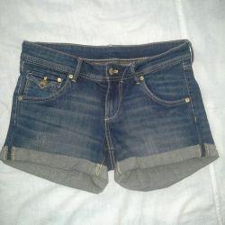 Denim women's shorts