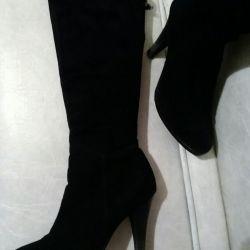 Çizme. süet ve kürk