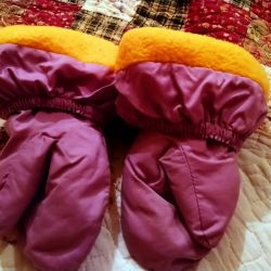 Mittens for a girl up to 2 years old