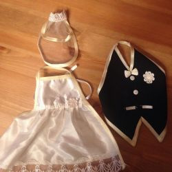Clothing for bottles for a wedding