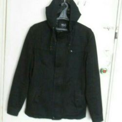 Jacket black with a hood (spring-autumn)