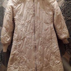 Пальто белое. Фирма VARCI Италия.140см 10лет