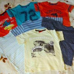 Ένα πακέτο μπλουζάκια και μπλουζάκια 7pcs) ρ.104 Βαμβάκι Θα δώσω ένα σωρό