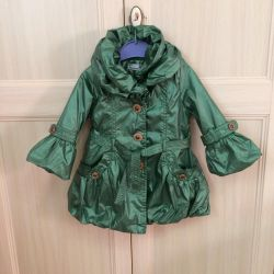 Fashionable raincoat for girls 1-2 years