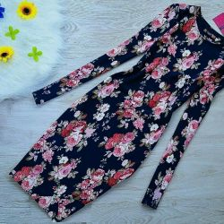Dress with floral print, new