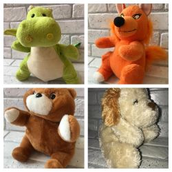Used soft toys