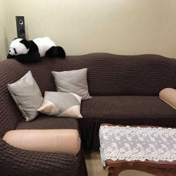 ВEuropeal for corner sofa color milky, green