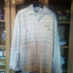 Лен, рубашка,хl.оч классная,этно стиль