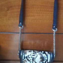 Δερμάτινη τσάντα Zara (νέα)