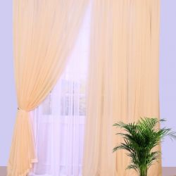 Set of curtains voile beige 250 * 250