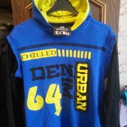 kapüşonlu sweatshirt yeni