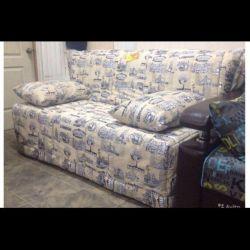 Sofa on metal frame