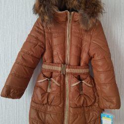 Новое зимнее пальто с биркой