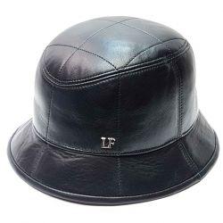 Шляпа Панама мужская натуральная кожа  (черный)