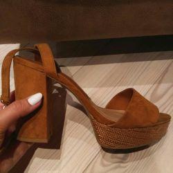 Sandalet STRADIVARIUS süet