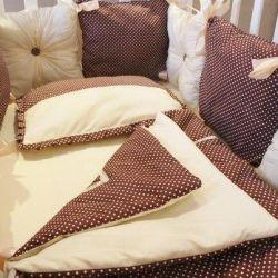 Новое постельное белье в кроватку с бортиками