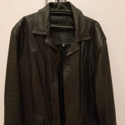 Men's leather jacket XXL