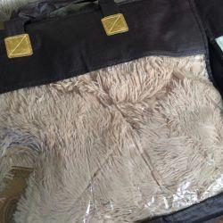 Βελούδινη κουβέρτα Μπεζ χρώμα