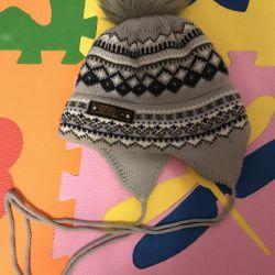 2 yaşındakiler için kışlık çocuk şapkası