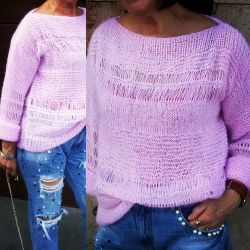 Γυναικείο πουλόβερ απαλά ροζ