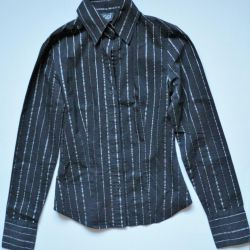 Black shirt with silver stripes