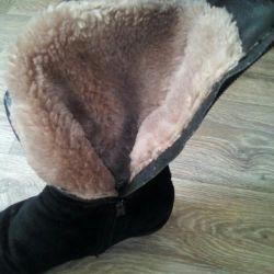 Kızlar için doğal kışlık botlar 36r-p