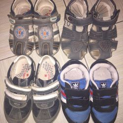 Sandaletler, spor ayakkabılar