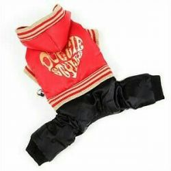 Εξώφυλλο ζεστό κόκκινο και μαύρο (ρούχα για σκύλους)