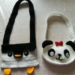 Örme çantalar (çocuklar için)