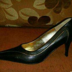New Leather Black Shoes Belvest p. 38-39
