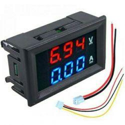 Βολτόμετρο βολταμέτρου και αμπερόμετρο DC 0-100V 10A