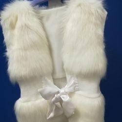 Fur vest on the girl