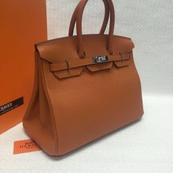 Leather bag from Hermes Paris luxury many colors