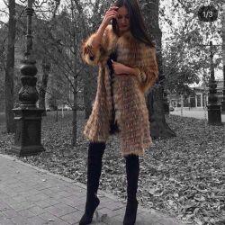 Black fur coat
