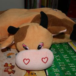 Soft toy - cow pillow