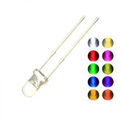 LEDs with a diameter of 3mm, 10 colors.